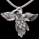Hummingbird necklace by Design Imports