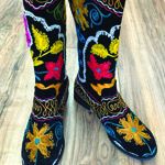 Embroidered Boots by Pandoras Box