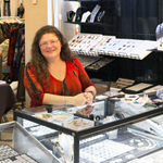 Kathy of Le Plume at her booth