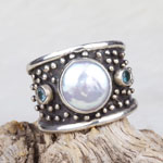 Pearl Ring by Savannah Design Studio